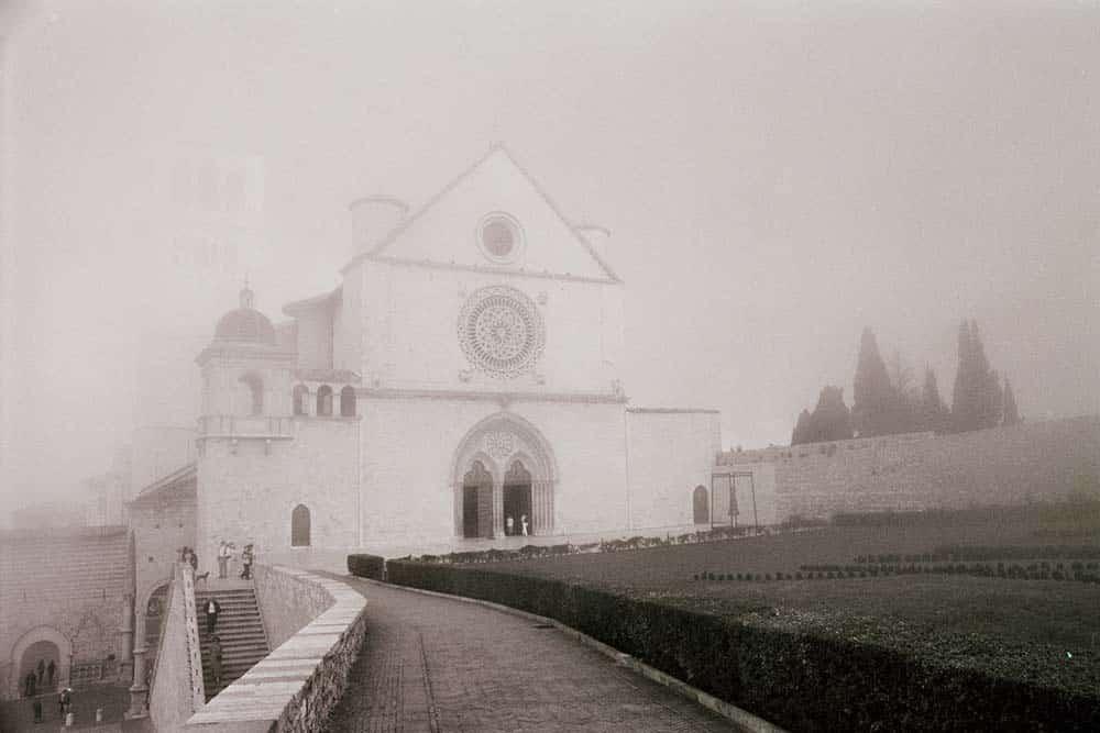 Kirken i Assisi i Italia