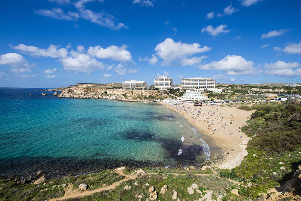 Golden Bay Beach på Malta