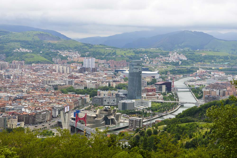 Utsikt over Bilbao fra Artxanda
