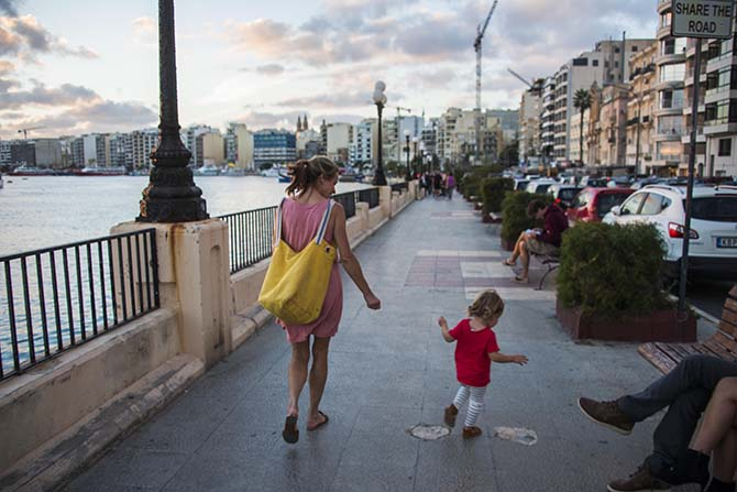 Attåring på ferie på Malta