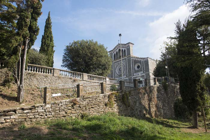 Fasaden på Basilica di Santa Margherita