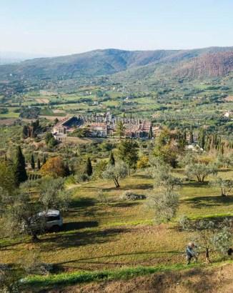 Utsikt over Øst-Toscana
