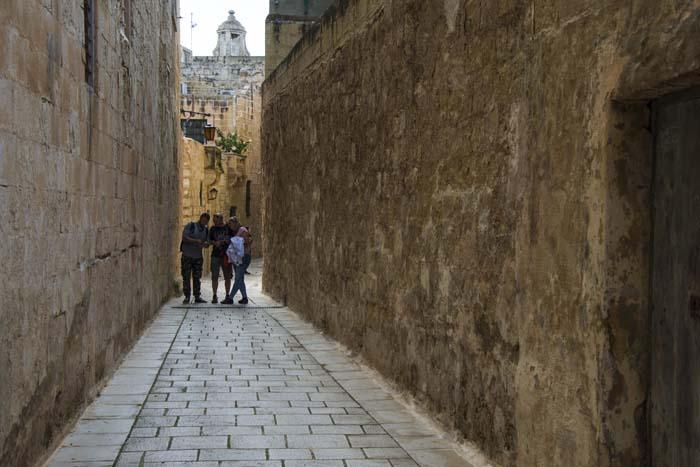 Smug i Mdina på Malta