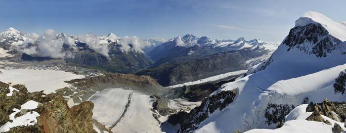 Utsikt fra Klein Matterhorn