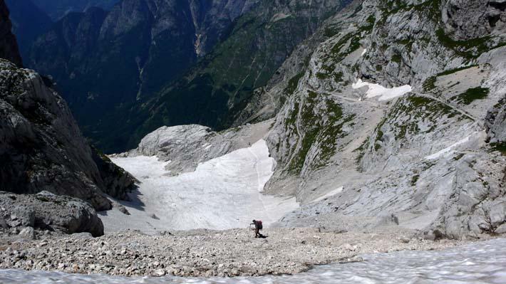 Nedstigning i De juliske alper i Slovenia