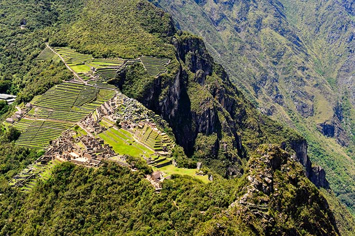 Inkabyen Machu Picchu sett fra utsiktspunktet på Huayna Picchu.