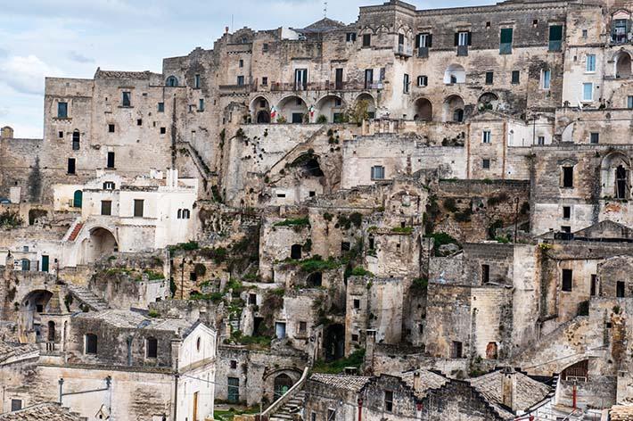 Sassier i Matera i Italia