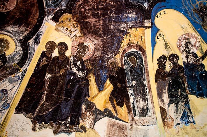 frekse i Udabno-klosteret i Georgia