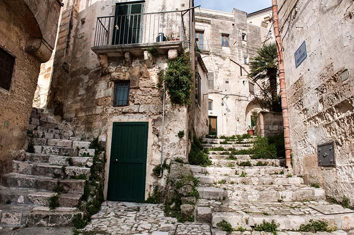 Trapper i sentrum av Matera i Basilicata