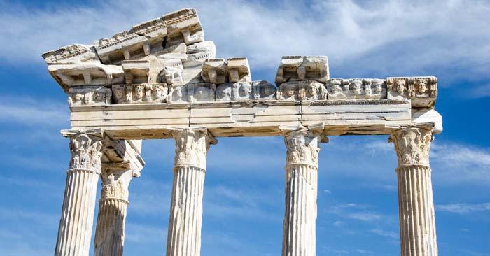 Apollon-tempelet på dagtid