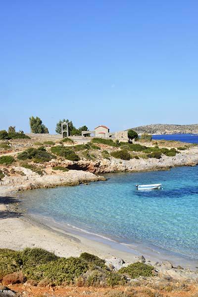 Stranden Agia Dynami på Chios