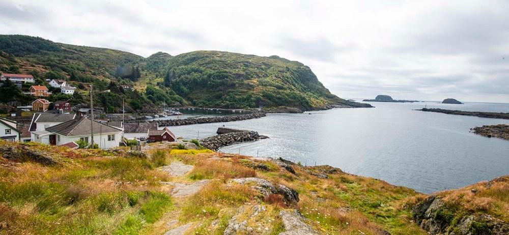 Utsikt mot havet fra Sogndalstrand i Dalane