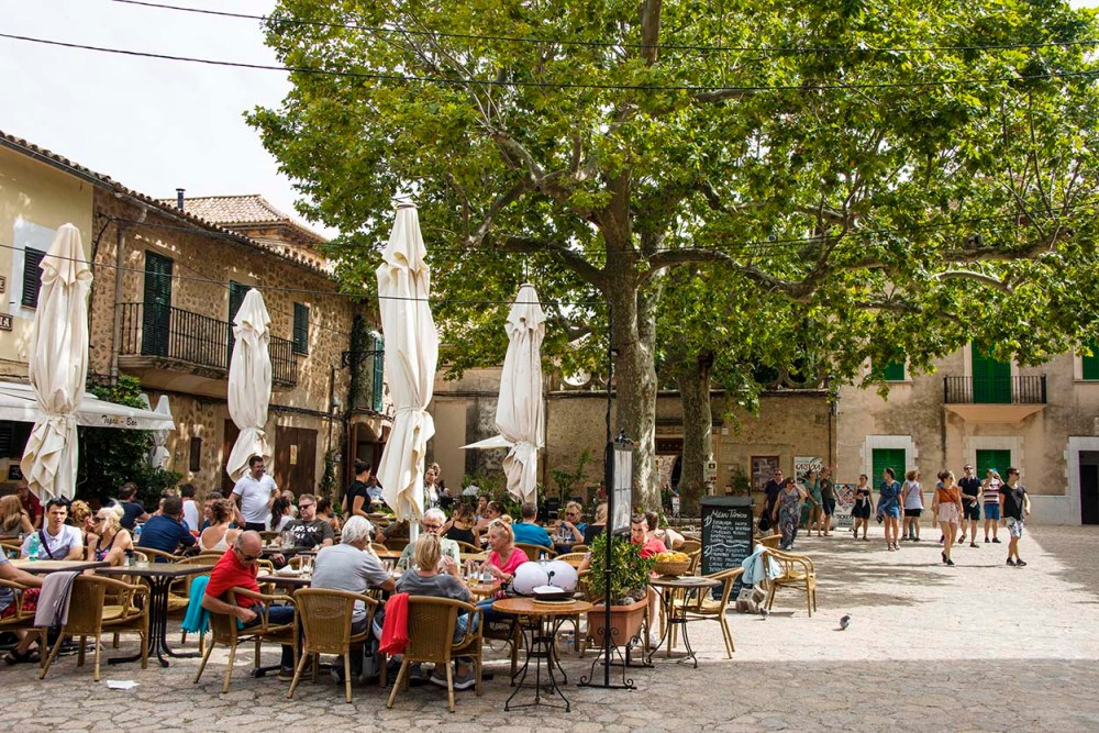 Uterestauranter i Valldemossa på Mallorca