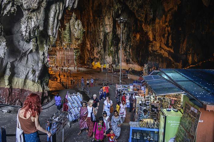 Suvenirbod ved Inngangen til Batu Caves