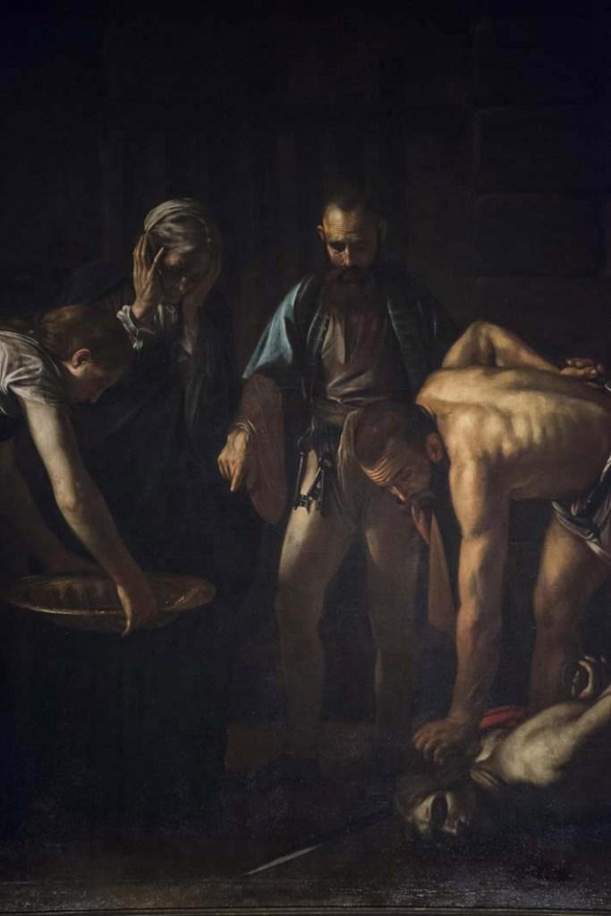 Detalj fra Caravaggios «Johannes døperens halshugging»
