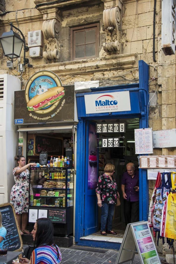 Liten butikk i Valletta