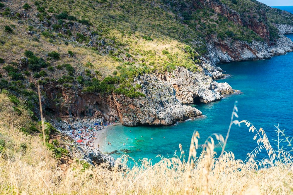 Stranda Cala Capreria på Sicilia