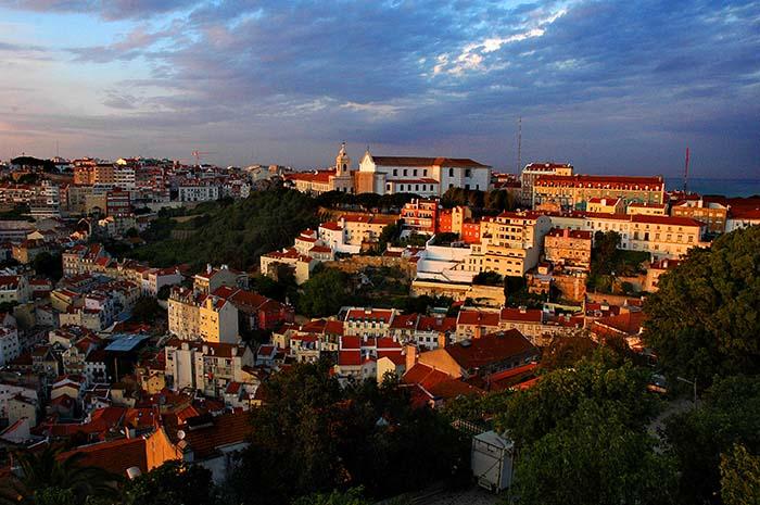 Utsikt fra Castelo, mot