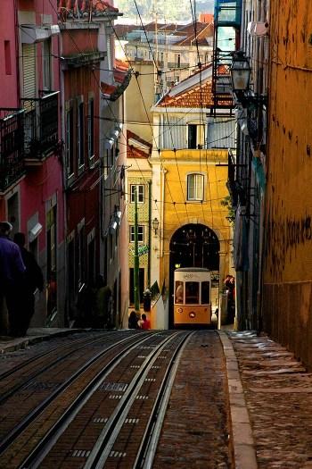 Elevador da Bica i Lisboa
