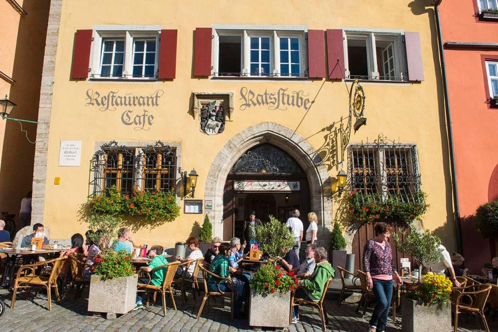 Uterestauranter i Rothenburg