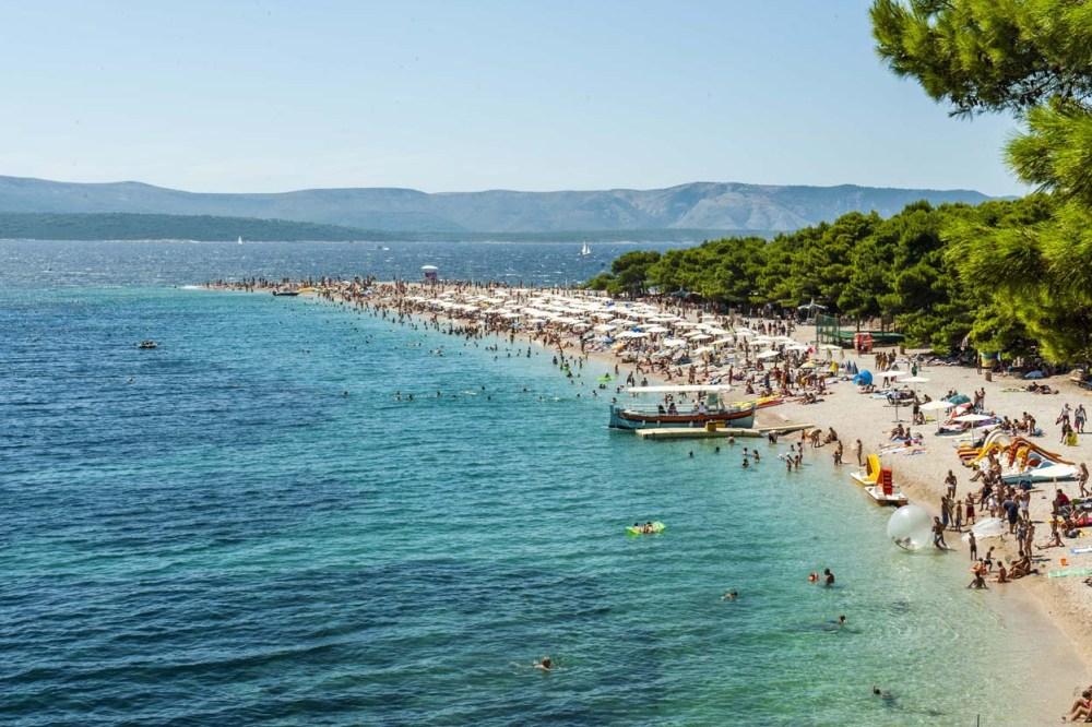 Stranda Zlatni Rat i Kroatia