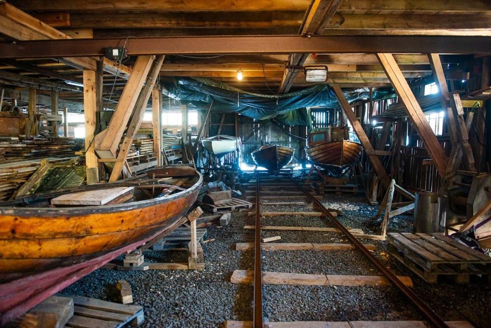 Moen Trebåtbyggeri - båter i opplag - Risør