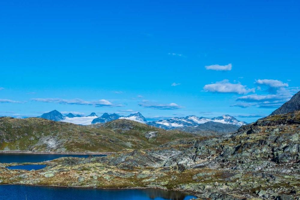 Utsikt fra fv 55 over Sognefjellet
