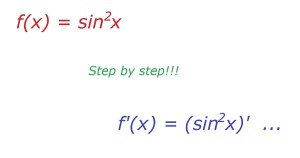Derivative of sin^2(x)