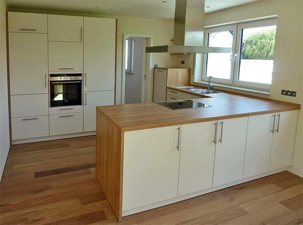 Arbeitsplatte Küche Holzoptik Grau