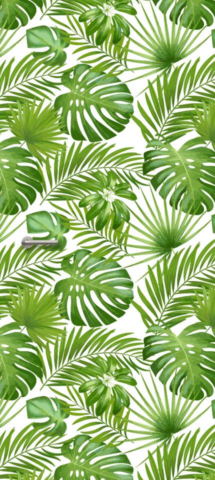 Botanisch patroon  Deurstickers  by Deurdesignsnl