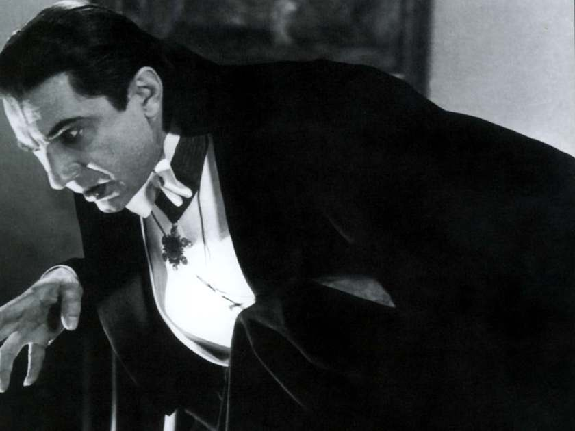 Dracula with pendant.