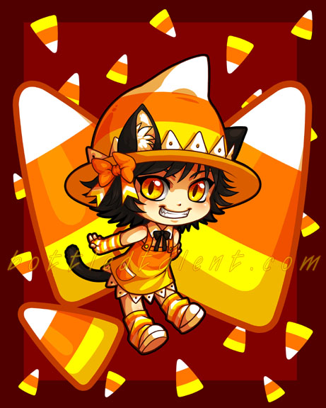 """Candycorn-chan"" by celesse."