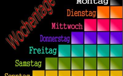 أيام الأسبوع في اللغة الالمانية