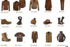 الملابس في اللغة السويدية