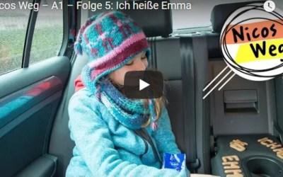 Nicos Weg – A1 – Folge 5: Ich heiße Emma|تعلم الالمانية صوت وصورة مع سلسلةDW المشهورة الحلقة الخامسة