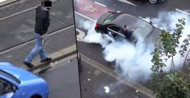 """ألمانيا : الشرطة توقف """" زفة عروس """" بسبب """" التفحيط """" و إطلاق النار ! ( فيديو )"""