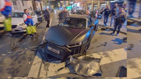 في مدينة ألمانية .. امرأة تحول سيارة قيمتها 150 ألف يورو إلى خردة