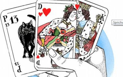 """أمثال ألمانية شائعة مع الشرح واللفظ """"منحوس في اللعب محظوظ في الحب"""""""