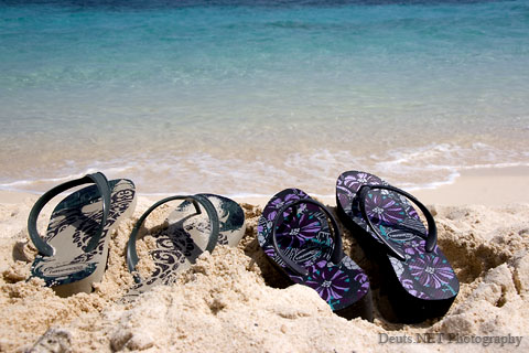 Flip Flops in the Sand Photo
