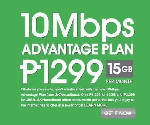 Sky Broadband 10Mbps Advantage Plan