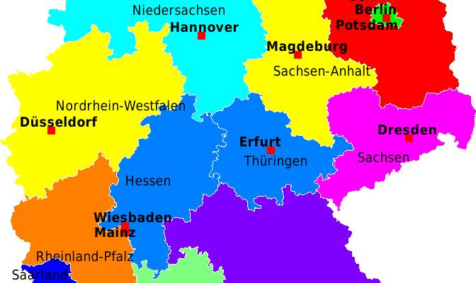 Deutschland Karte Bundesländer Und Hauptstadt Deutsch Viel Spass