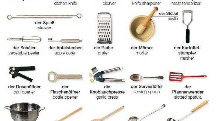 die Küchengeräte - Deutsch - Viel Spass