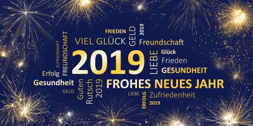 Neujahr 2019 - Frohes neues Jahr