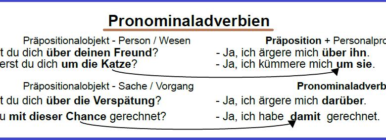 khizg - Pronominaladverbien