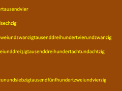 txrzctuvzi - 6144 = sechstausendeinhundertvierundvierzig