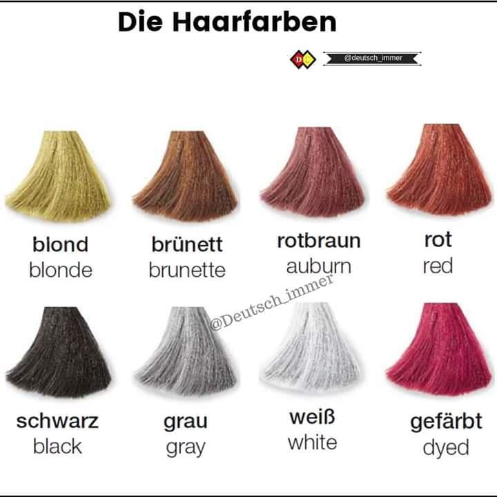 die Haarfarben