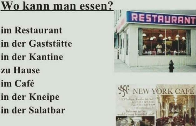 Wo kann man essen?