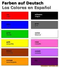 Farben auf Deutsch und Spanisch - Los colores en alemn y ...