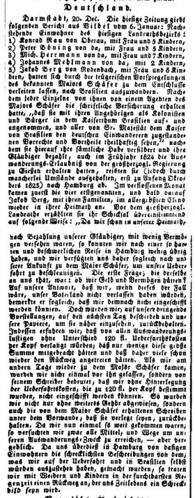 Neckar-Zeitung 29. Januar 1826