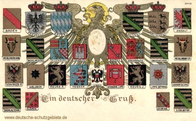 Deutsches Reich (Kaiserreich), Wappen der Bundesstaaten